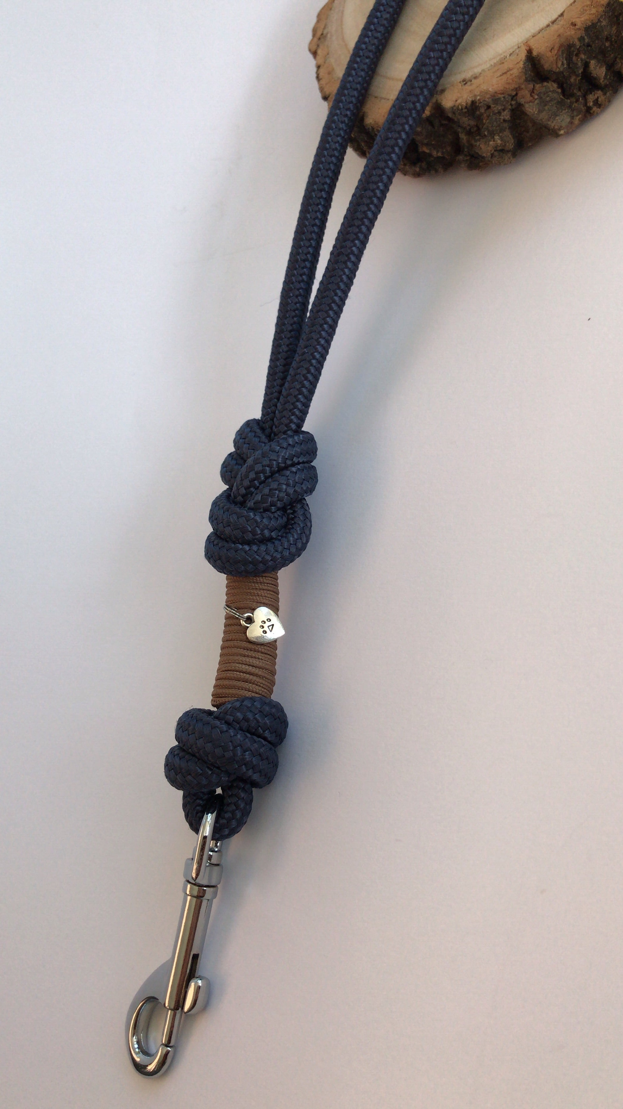 Seatbelt & Safety Lead - Navy 8mm