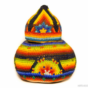 Huichol beaded bowl