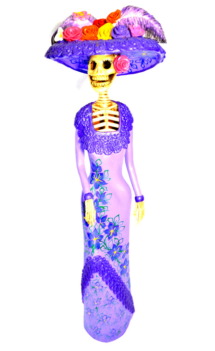 Catrina Medium Purple and Light Purple Dress