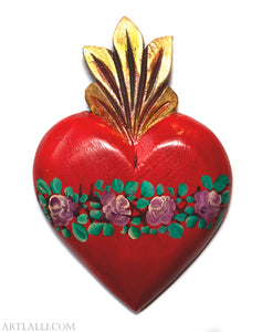 Wood Miracles Heart Oil Red