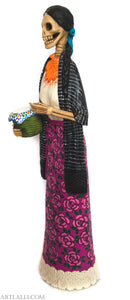 Catrina Purepecha With Tortillas Basket