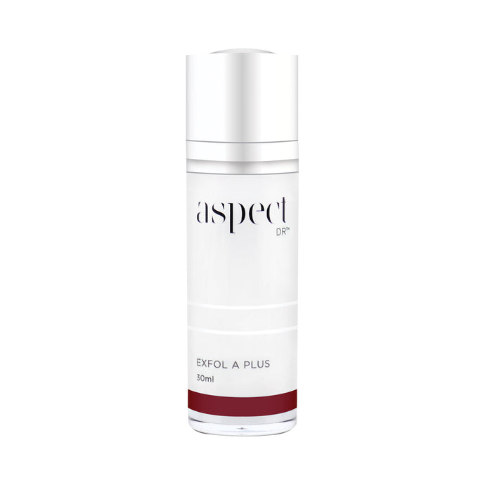 Aspect Dr , Lactic Acid, Lanablue™, and Retinol to smooth skin texture, colour and toneExfol A Plus Serum 30mL