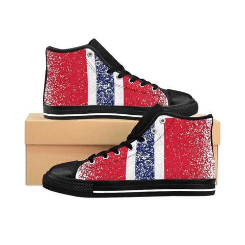 Men's Norwegian Flag High-top Sneakers