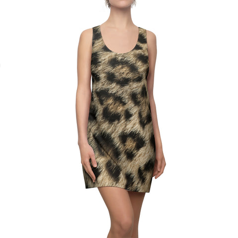 leopard racerback tank dress