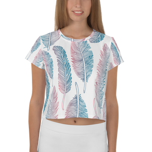 Feather All-Over Print Crop Tee Main Image