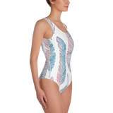 Feather One-Piece Swimsuit