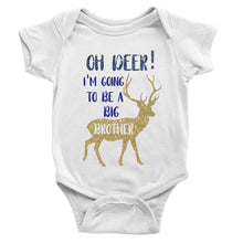 Load image into Gallery viewer, Oh Deer! I'm Going To Be a Big Brother | Baby Bodysuit or Toddler Tee