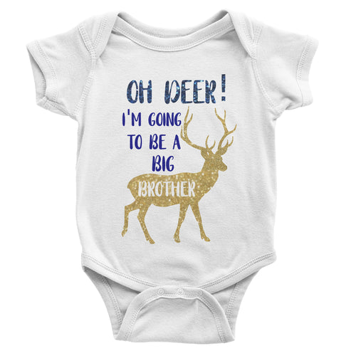 Oh Deer! I'm Going To Be a Big Brother | Baby Bodysuit or Toddler Tee