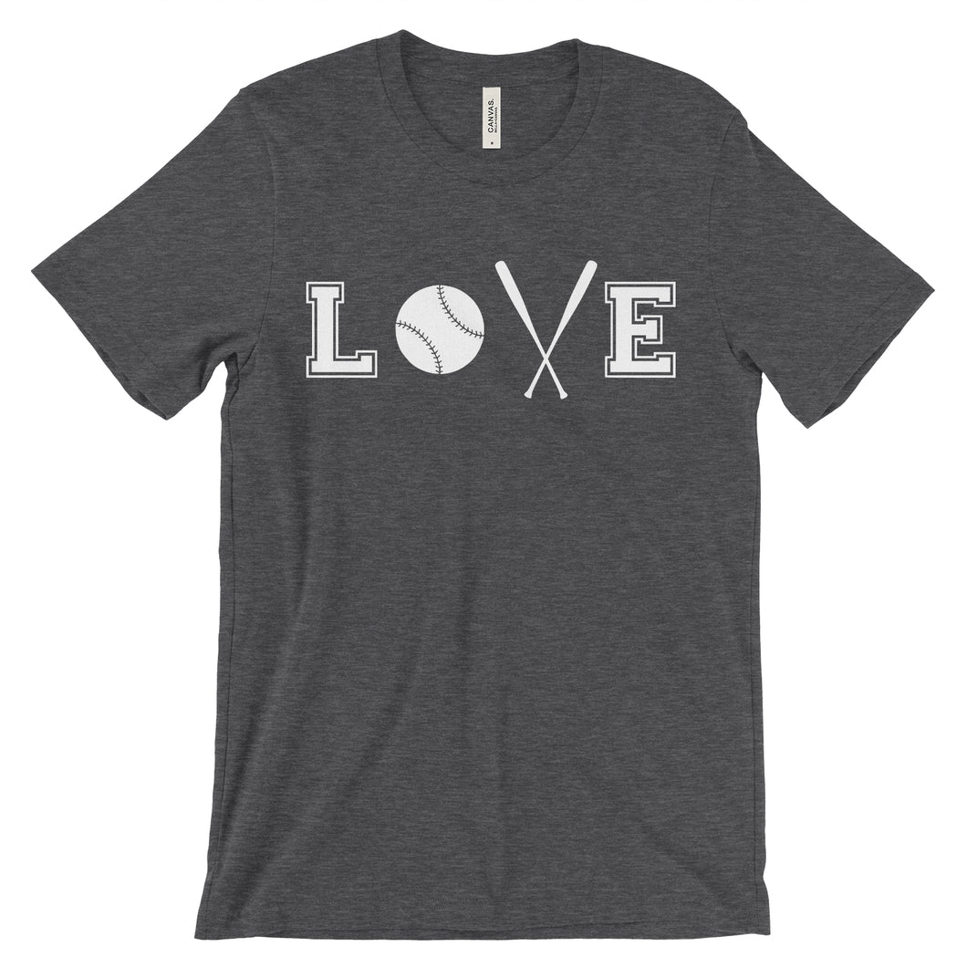 Love - Baseball, Softball, T-ball Fan T-Shirt