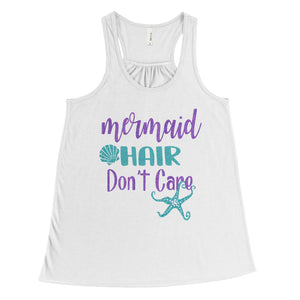 Mermaid Hair Don't Care - Girls Youth Tank Top