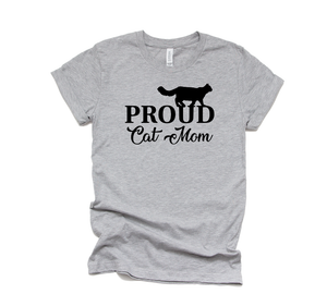 Proud Cat Mom - Cat Lovers T-Shirt