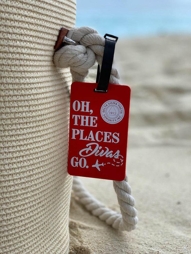 "DST""Oh The Places Divas Go"" Luggage Tag"