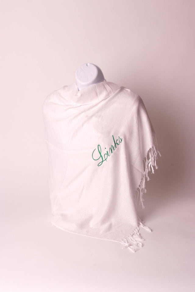 Links White Pashmina