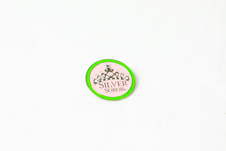 Silver Soror Crown Lapel Pin
