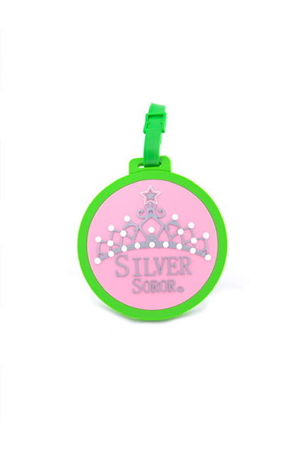 AKA Silver Soror with Crown Luggage Tag