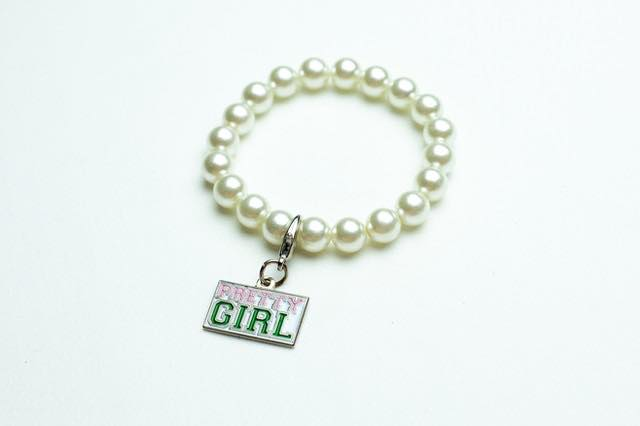 AKA Pearl Bracelet with Pretty Girl Charm