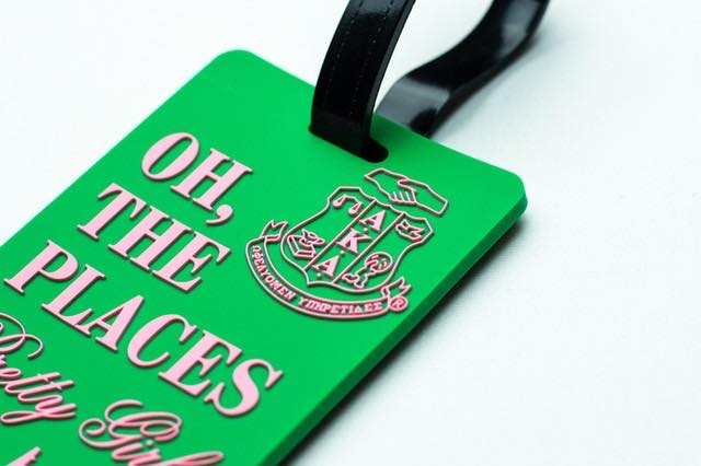 "AKA""Oh The Places Pretty Girls Go"" Luggage Tag"