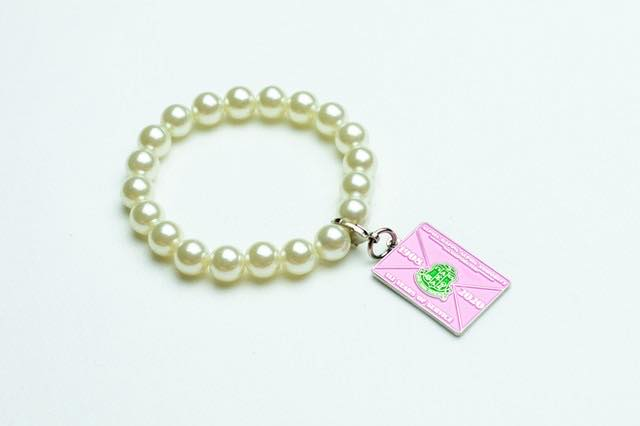 AKA Pearl Bracelet with Founders' Day Charm