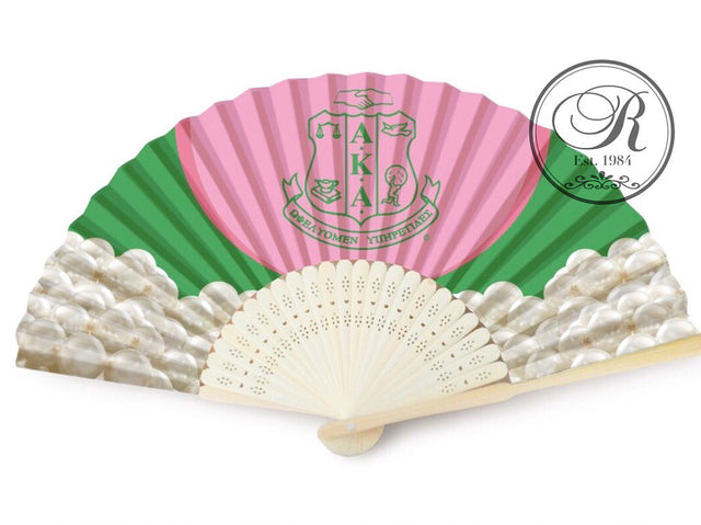 AKA Silk and Bamboo Fan with Silk Pearl Case