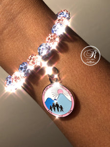 Jack and Jill Bling Bracelet with Logo Charm