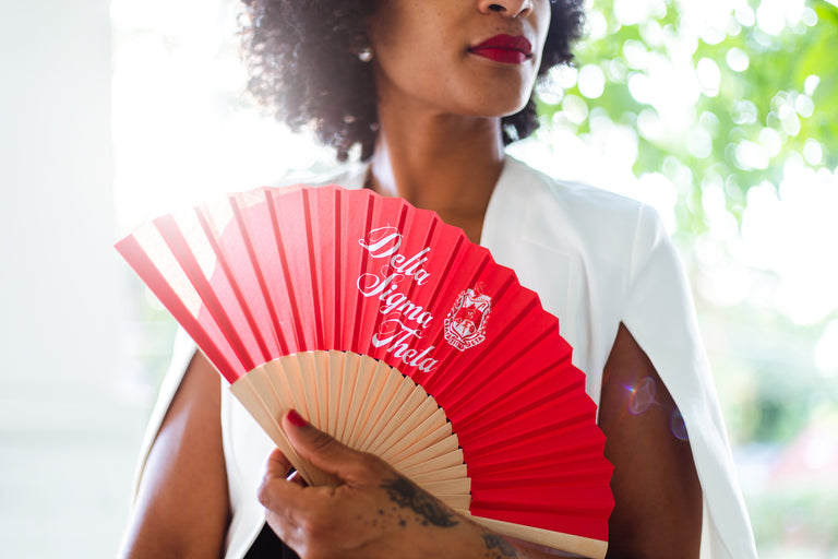 Delta Sigma Theta Silk and Bamboo Fan