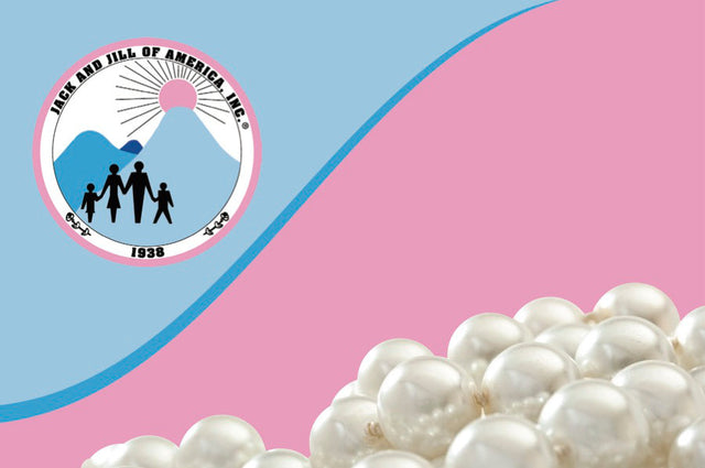 Jack and Jill of America, Inc. Logo and Pearl Notecards
