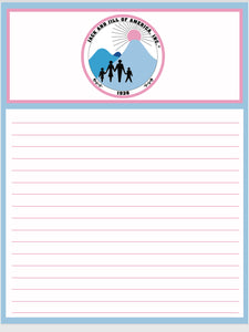 Jack and Jill of America, Inc. Notepad