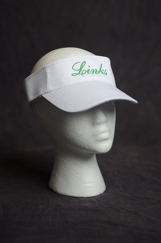 Links, Inc. White Visor