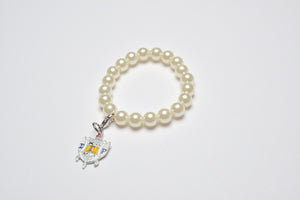 Pearl Bracelet with SGR Shield Charm