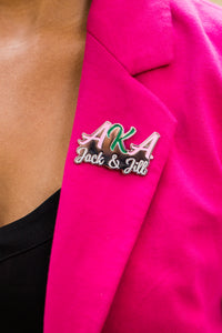AKA and Jack and Jill of America, Inc Lapel Pin