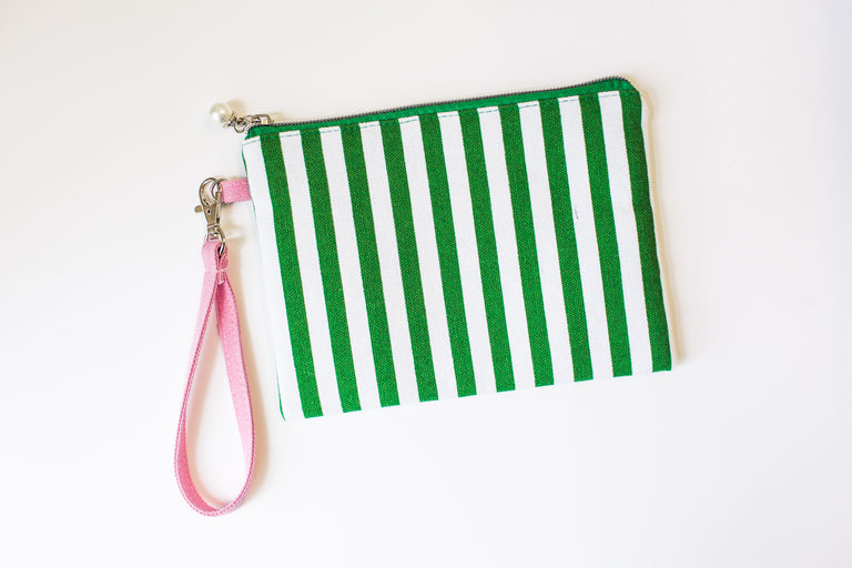 AKA Wristlet with Pearl Zipper