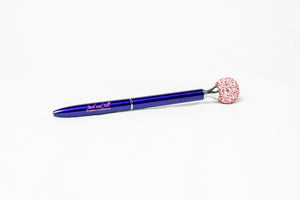 Jack and Jill of America, Inc. Blue Ink Pen with Bling Ball