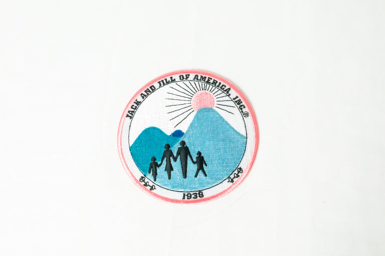 Jack and Jill of America, Inc Pink and Blue Patch