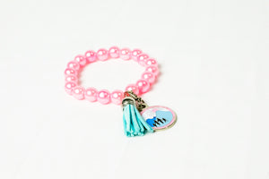 Jack and Jill Pearl Tassel Bracelet with Charm