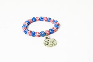 Jack and Jill Bling Bracelet with Bling Charm
