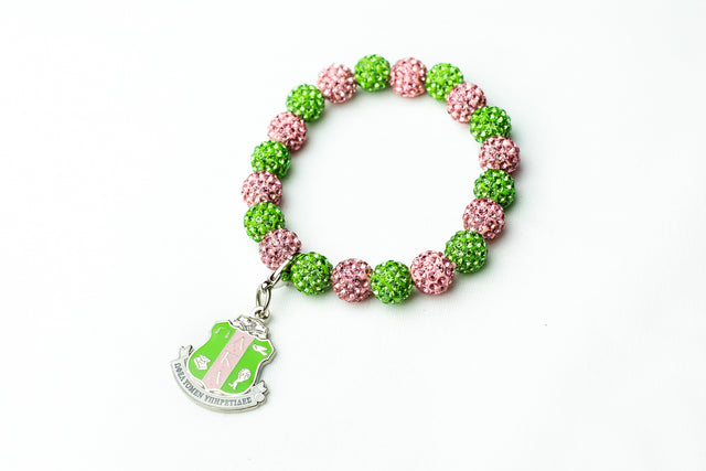 AKA Bling Bracelet with Shield Charm