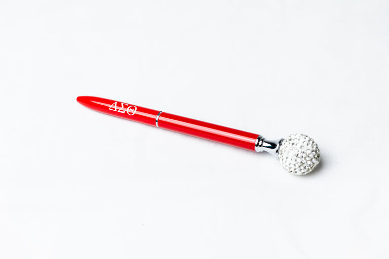 DST Red Ink Pen with Bling Ball