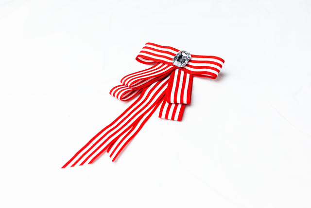 Red and White Brooch
