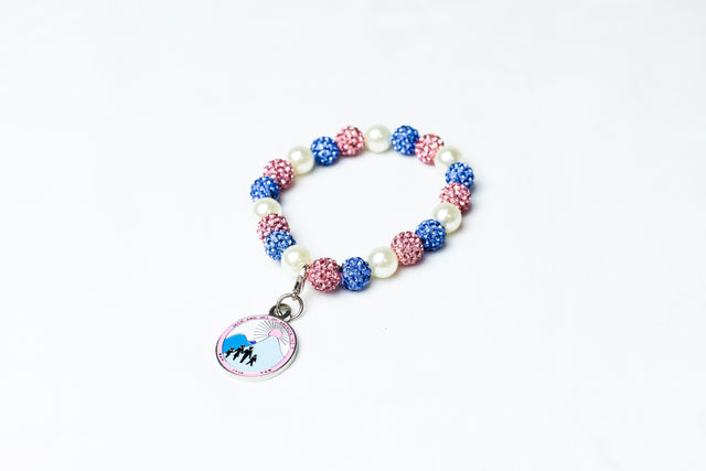Bling and Pearl  Bracelet with JJ Logo Charm