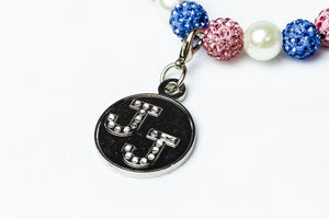 Jack and Jill Bling & Pearl Bracelet with Bling Charm