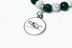 Links Bling Bracelet with Links Logo Charm