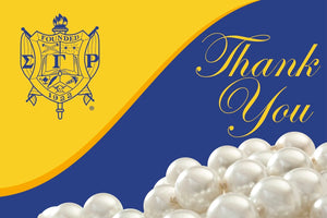 Sigma Gamma Rho Pearl Thank You with Notecards