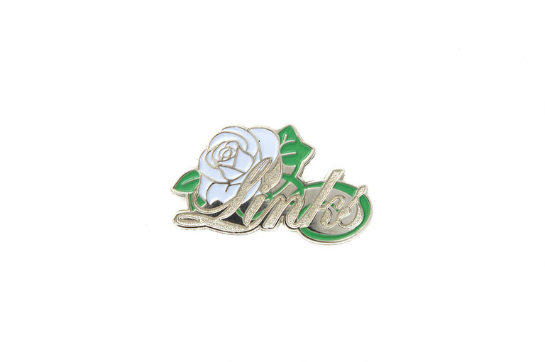 Silver Links, Inc. Embossed Rose Lapel Pin