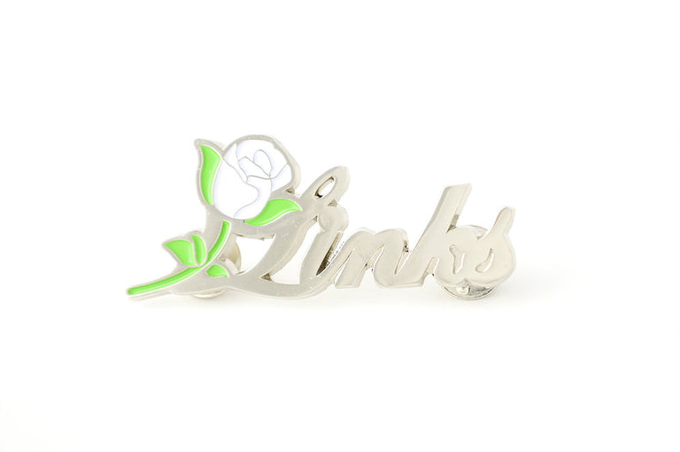 Silver Links, Inc. Script Lapel Pin