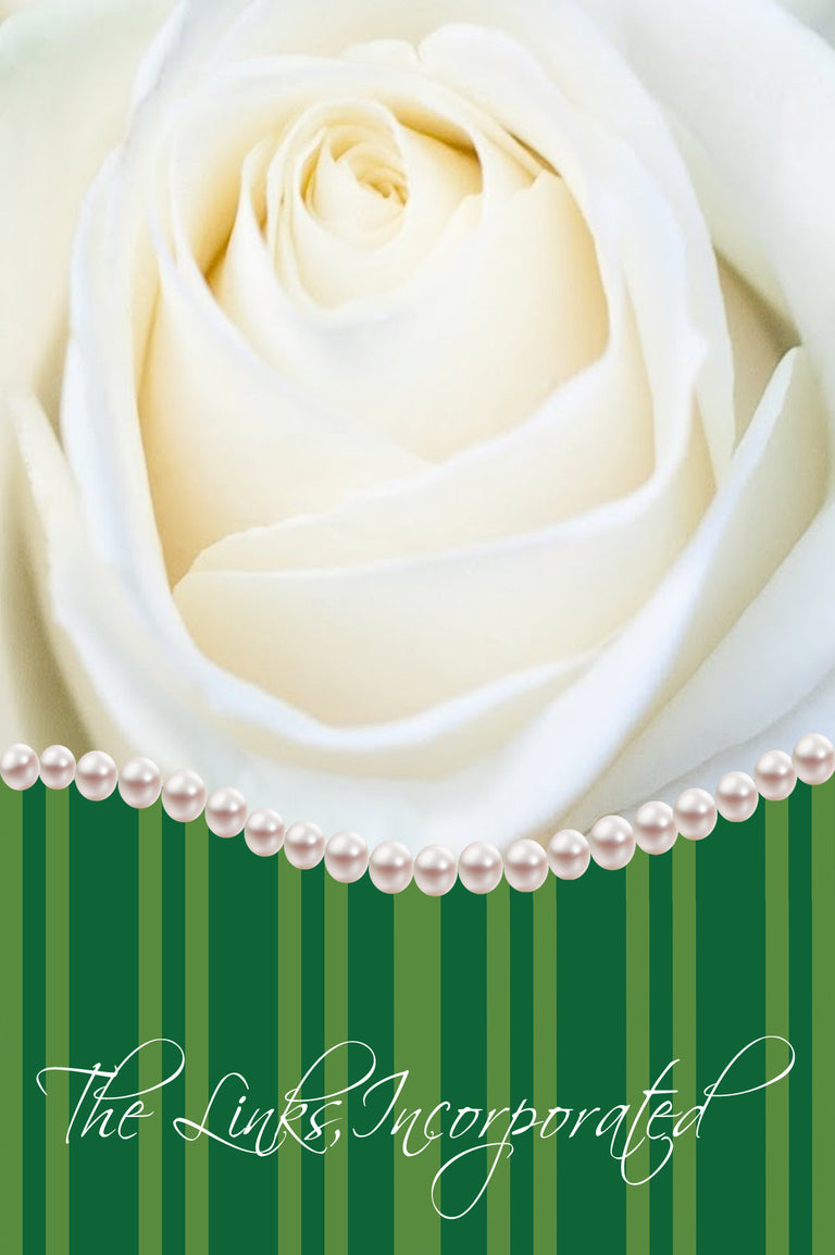 White Rose with Pearls Notecards