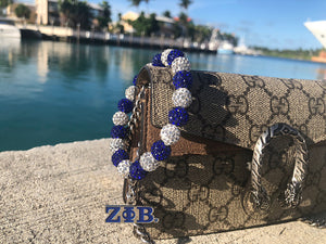 Zeta Phi Beta Bling Bracelet with Zeta Charm