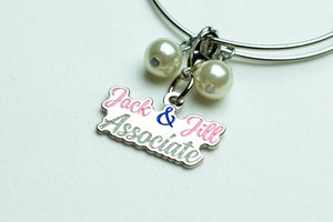 Jack and Jill Silver Wire Bracelet with Associate Charm