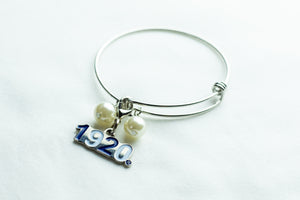 Zeta Phi Beta Wire Bracelet with 1920 charm