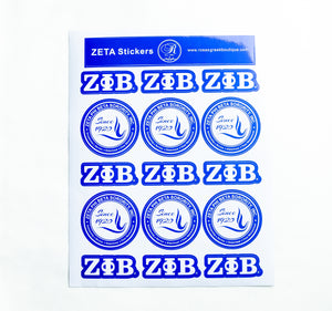 Zeta Phi Beta Sticker Sheet