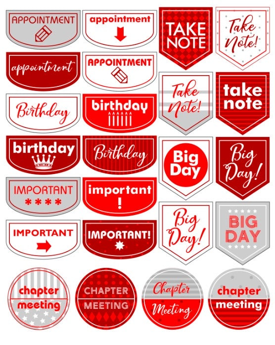 DST  Planner Sticker Sheet